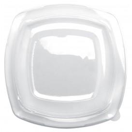 Tampa Plastico Transp. para Prato Square PET 230mm (25 Uds)