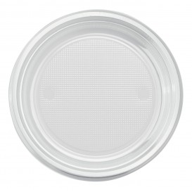 Prato Plastico PS Raso Transparente Ø170mm (50 Unidades)