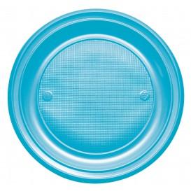 Prato Plastico Raso Vermelho PS 220 mm (30 Unidades)