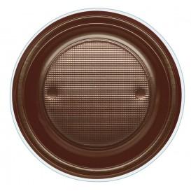 Prato Plastico PS Fundo Chocolate Ø220mm (30 Unidades)