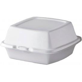 Embalagem Foam Hamburguer Branco 150x150x80mm (125 Uds)
