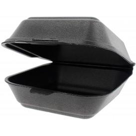 Embalagem Foam Hamburguer Pequena Preto (125 Uds)