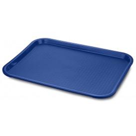 Bandeja Plastico Rigido Azul  30,4x41,4cm (24 Uds)