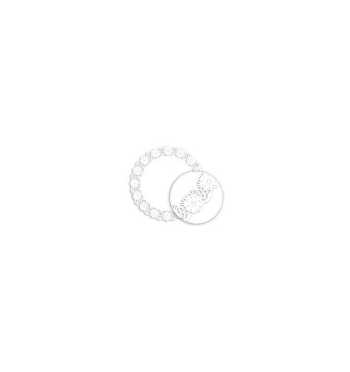 Naperon Papel Rendado Branco Circular 255mm (250 Uds)