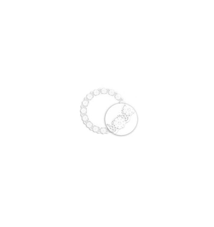 Naperon Papel Rendado Branco Circular 305mm (250 Uds)