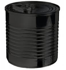 Lata de conserva Plastico PS Preto 60ml Ø5,1x4,8cm (25 Uds)