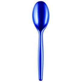 Colher de Plástico Easy PS Azul Perle 185mm (20 Uds)