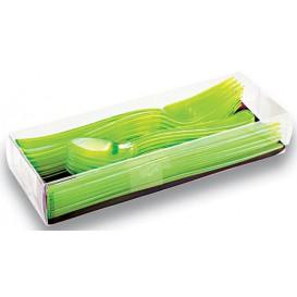 Conjunto Talheres Garfo, Faca Colher Verde (1 Conjunto)
