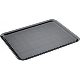 Bandeja Plastico Tray Preto 37x50cm (4 Unidades)