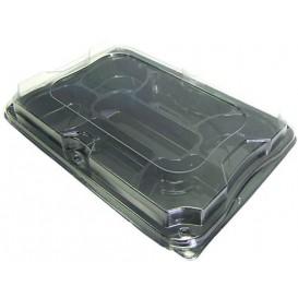Bandeja Plastico Luxo 7 C. Preto Tapa 35x24cm (25 Packs)