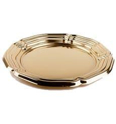 Bandeja Plastico Luxo Redonda Ouro 34 cm (50 Uds)