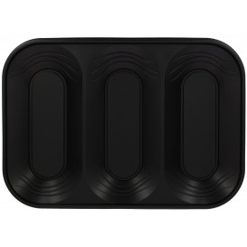 "Bandeja Plastico PP ""X-Table"" 3C Preto 330x230mm (2 Unidades)"