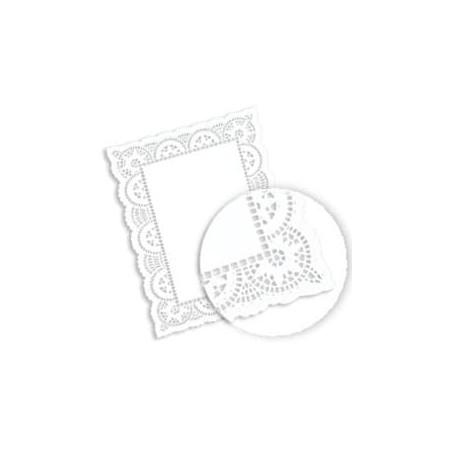 Naperon Papel Branco Rendado Rectang.14x24cm (250 Uds)
