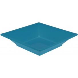 Prato Fundo Quadrado Plástico Turquesa 170mm (750 Uds)