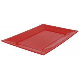 Bandeja Plastico Rectangular Vermelho 330x225mm (180 Uds)