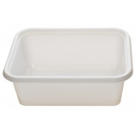 Bandeja Plastico PS Branco 127x91x42mm 300ml (1000 Uds)