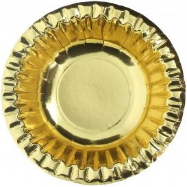 """Tigela de Cartão """"Party"""" Ouro Ø160mm (6 Unidades)"""