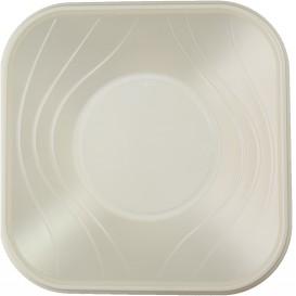 "Tigela Plastico PP ""X-Table"" Quadrada Pérola 180x180mm (120 Uds)"