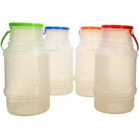 Garrafa Cilíndrica Transp. Translúcido 1000 ml (10 Uds)