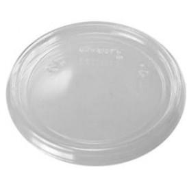 Tampa Plana Plastico Transparente Ø7,4cm (100 Uds)