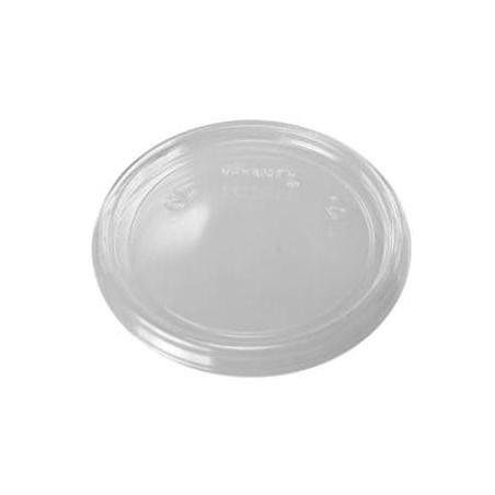 Tampa Plana Plastico Transparente Ø7,4cm (1000 Uds)