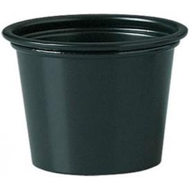Copo Plastico PP para Molhos Preto 30ml Ø48mm (2500 Uds)