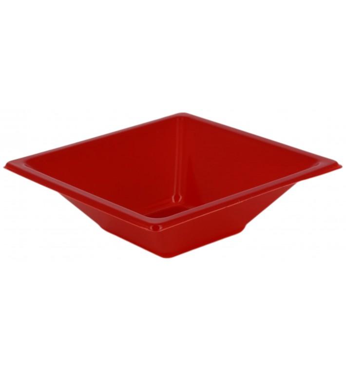 Tigela de Plastico PS Quadrada Vermelho 12x12cm (720 Uds)
