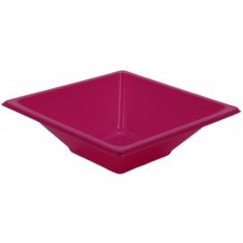 Tigela de Plastico PS Quadrada Fúcsia 12x12cm (12 Uds)