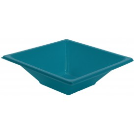 Tigela de Plastico PS Quadrada Turquesa 12x12cm (12 Uds)