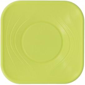 Tigela Plastico Quadrada Limão PP 180x180mm (112 Uds)