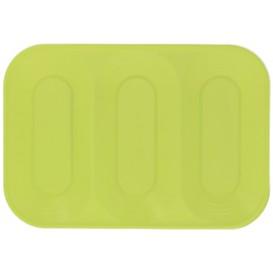 """Bandeja Plastico PP """"X-Table"""" 3C Limão 330x230mm (2 Unidades)"""