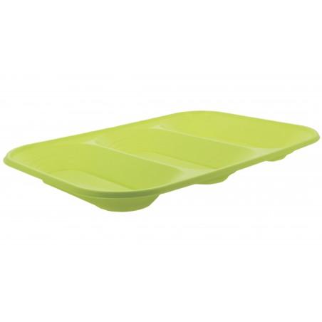 """Bandeja Plastico PP """"X-Table"""" 3C Limão 330x230mm (30 Unidades)"""