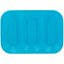 """Bandeja Plastico PP """"X-Table"""" 3C Turquesa 330x230mm (2 Unidades)"""