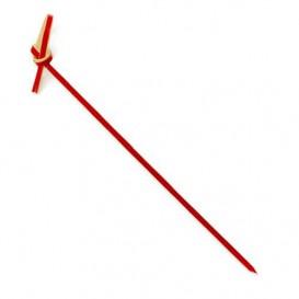 Pick Bambu Decorado Laço Vermelho 90mm (100 Uds)