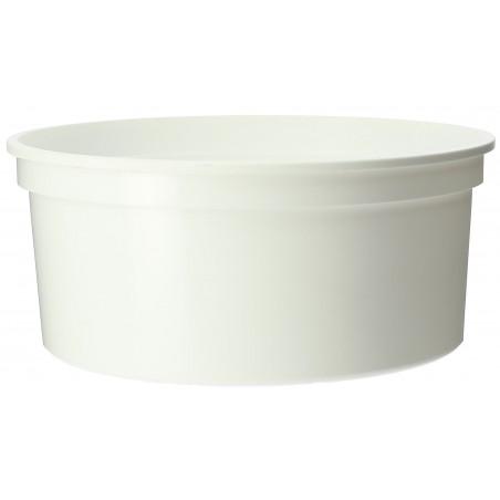 Embalagem Plastico Redondo Branco 350ml  Ø11,5cm (25 Uds)
