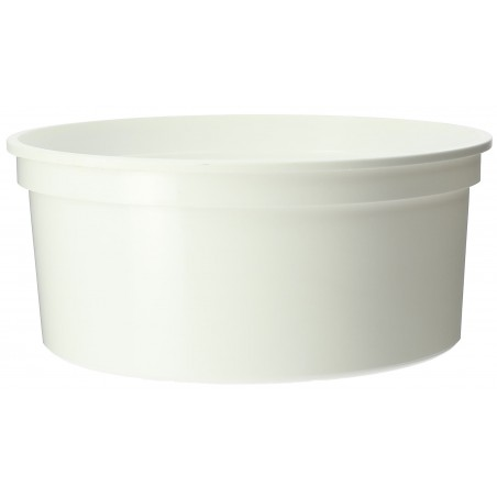 Embalagem Plastico Redondo Branco 350ml  Ø11,5cm (500 Uds)