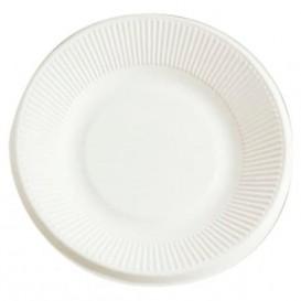 Prato Bio da cana-de-açúcar Branco Ø210mm (50 Uds)