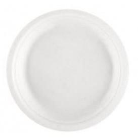 Prato Bio da cana-de-açúcar Branco Ø230mm (50 Uds)