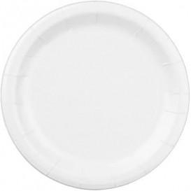 Prato de Papel Branco 22 cm (400 Unidades)