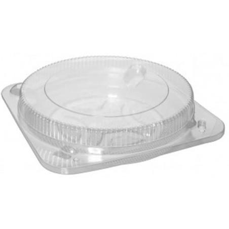 Caixa Plastico Quadrada Bolo Transparente Ø26cm (150 Uds)
