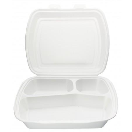 Embalagem Foam PortaMenus 3 Compartimientos (50 Uds)