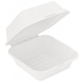 Embalagem Cana-de-açúcar Branco 152x152x84mm (50 Uds)