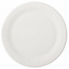 Prato de Papel Branco Ø15 cm (100 Unidades)