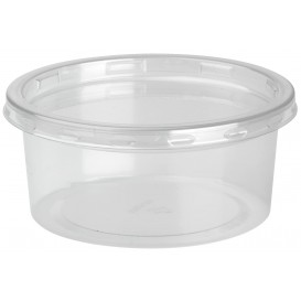 Embalagem Plastico rPET DeliLite con Tampa 7,6oz/217ml (50 Uds)