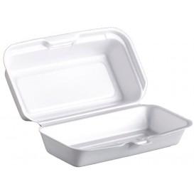 Embalagem Foam HotDog Branco 180x100x60mm (125 Uds)