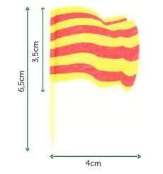 """Pick Bandeira """"Catalunha"""" 65mm (144 Uds)"""