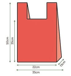 Saco Plastico Alça Vermelho 35x50cm (200 Unidades)