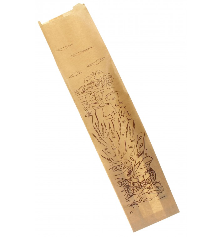 "Saco de Papel ""Siega"" Kraft 12+6x50cm (1000 Unidades)"