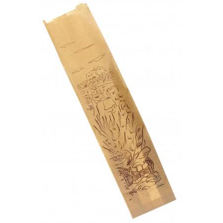 Saco de Papel para Pão Kraft 12+6x50 cm (100 Unidades)