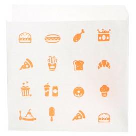 """Saqueta Papel """"Saky Food"""" Aberta 2L Kraft 15x15cm (250 Uds)"""